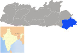 Location of East Jaintia Hills district in Meghalaya