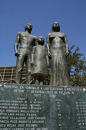 Augusto Pinochet - Memorial to victims of Pinochet's regime