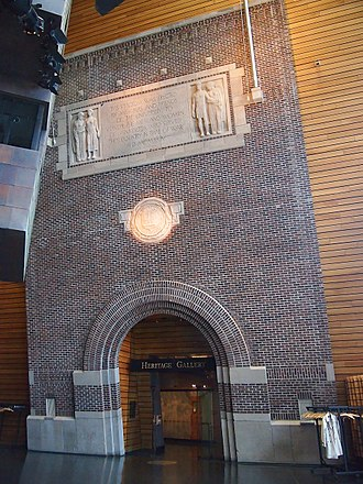 Memorial Stadium (University of Minnesota) - Original entrance, now inside the McNamara Alumni Center