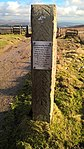 Memorial plaque dedicated to the victims of the Winter Hill air disaster, Winter Hill, Lancashire.jpg
