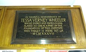 Tessa Wheeler - Memorial to Tessa Wheeler in the UCL Institute of Archaeology