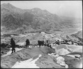Men of the 19th Infantry Regiment work their way over the snowy mountains about 10 miles north of Seoul, Korea... - NARA - 531395.tif