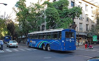 Mendoza ex-Solingen trolleybus, offside-rear view, 2009.jpg