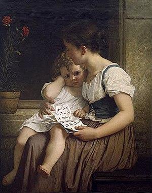 Hugues Merle - The First Thorns of Knowledge (Les premières épines de la science), 1864, Dallas Museum of Art