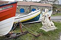 Mermaid and boats at Craster harbour - geograph.org.uk - 809425.jpg