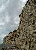 Mers-les-Bains - Esplanade du Général Leclerc - View NNE & Up on les Falaises - the White Cliffs.jpg