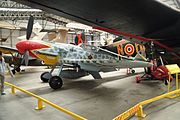Messerschmitt Bf 109 at Yorkshire Air Museum (8265).jpg