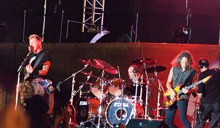 Metallica performing in Bangalore, India in 2011 Metallica (6350334052).jpg