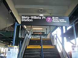 Mets-Willets Pt - IRT Flushing Line; Roosevelt Ave Staircase