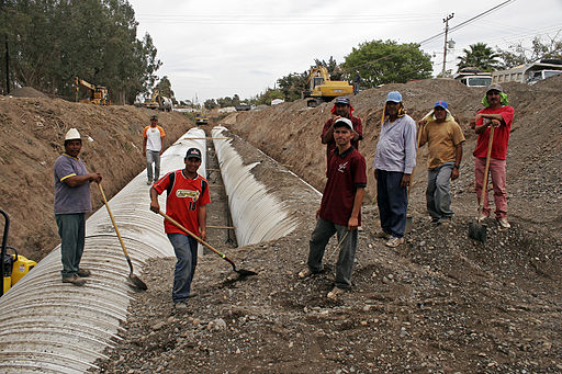 Mexican construction workers