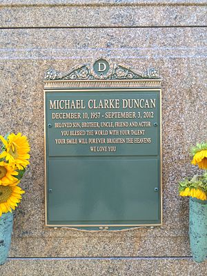 Michael Clarke Duncan - Crypt of Michael Clarke Duncan at Forest Lawn Hollywood Hills.