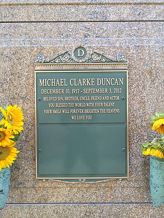 Michael Clarke Duncan - Crypt of Duncan at Forest Lawn Hollywood Hills