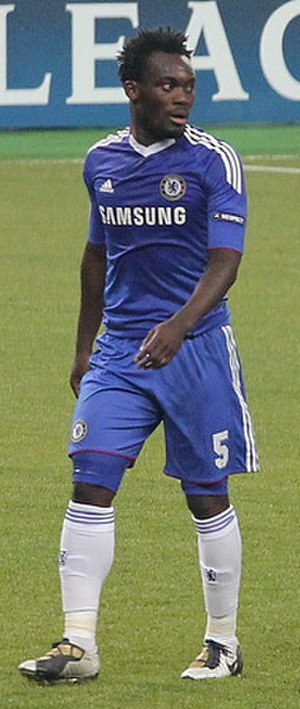 Michael Essien - Essien in action for Chelsea in 2010