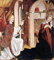 Laurentius-Altar: Verkündigung an Maria