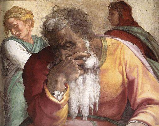 Michelangelo, profeti, Jeremiah 02