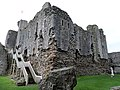 Middleham Castle, Wensleydale, Yorkshire - the central tower block or motte.jpg