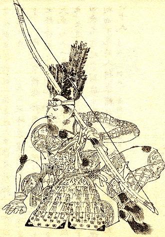 Minamoto no Tametomo - Minamoto no Tametomo drawn by Kikuchi Yōsai