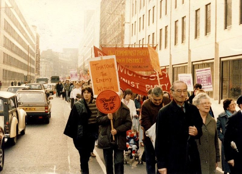 Miners strike rally London 1984