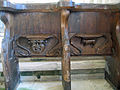 Misericords in St Cuthbert's, Holme Lacy.jpg
