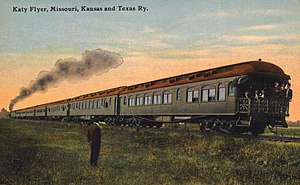 Missouri–Kansas–Texas Railroad - The Katy Flyer in 1911.