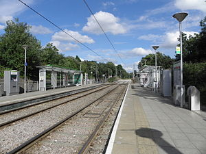 Mitcham tram stop - Image: Mitcham tramstop look east 2012