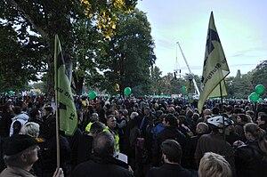 Deutsch: Kundgebung gegen Stuttgart 21 im Mitt...