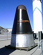 Mk 6 reentry vehicle on display at National Atomic Museum