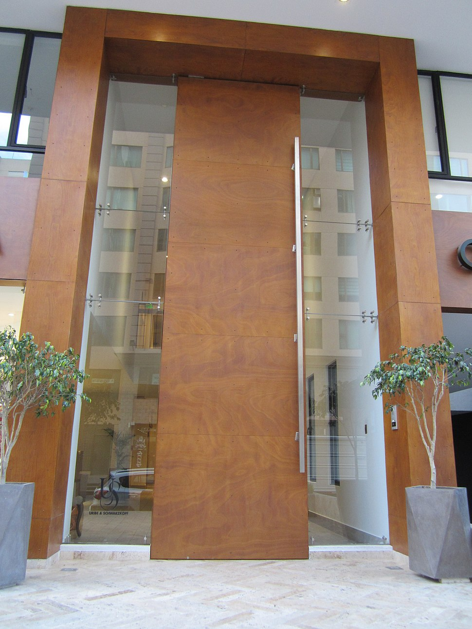 Modern Building in Quito, capital city of Ecuador,.very cool door, and at an elevation of 2,850 metres (9,350 ft) above sea level