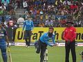 Moeen Ali bowling against Sri Lanka on their tour of Sri Lanka.JPG