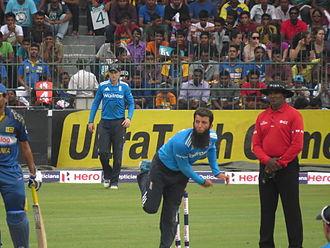 Moeen Ali - Moeen Ali bowling against Sri Lanka in 2014