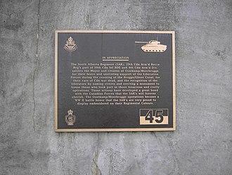Battle of Moerbrugge - Moerbrugge - South Alberta Regiment