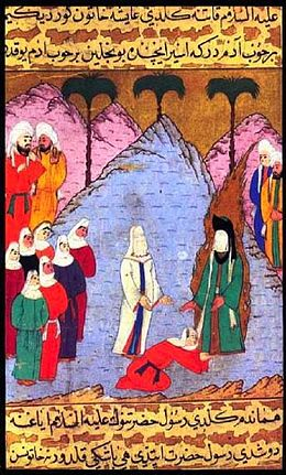 Mohammed and his wife Aisha freeing the daughter of a tribal chief. From the Siyer-i Nebi.jpg