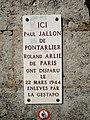 Moirans-en-Montagne - Plaque hommage Paul Jallon et Roland Arlie (juil 2018).jpg