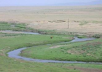 Mongolian-Manchurian grassland - Image: Mongolian steppe