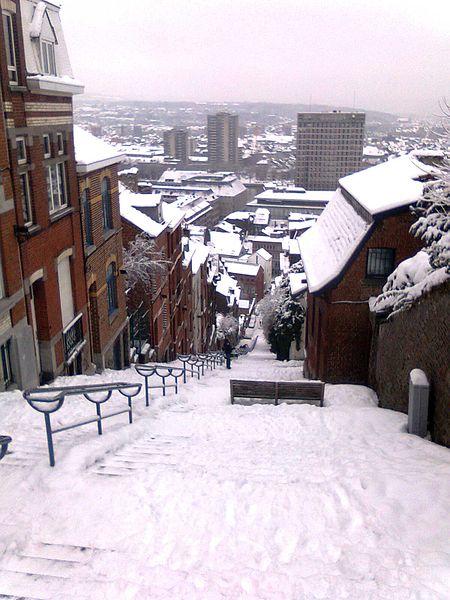 Montagne de Bueren in winter