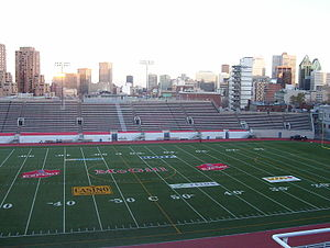 Hochelaga, Land of Souls - Scenes were shot at Percival Molson Memorial Stadium.