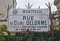 Montreuil - Rue du Colonel Delorme (plaque) (mars 2018).jpg