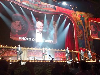 Monty Python - Members of Monty Python on stage at the O<sub>2</sub> Arena, London, in July 2014