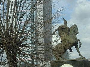 Ελληνικά: Μνημείο του Σκεντέρμπεη στην Πρίστιν...
