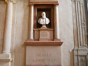 San Tomaso Becket, Verona - Funeral Monument to Michele Sanmicheli
