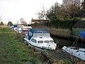 Moored boats beside footpath - geograph.org.uk - 1098538.jpg