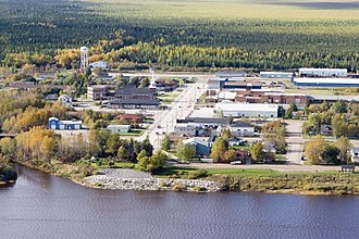 Moosonee - Image: Moosonee downtown aerial