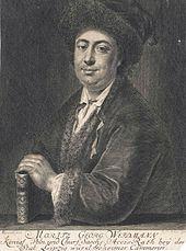 Moritz Georg Weidmann, Stich von Johann Friedrich Rosbach nach Adam Manyoki (Quelle: Wikimedia)