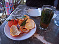 Moroccan food and drink - mint tea and oranges (5367519055).jpg