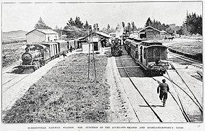 Morrinsville - Morrinsville railway station, 1902