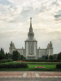 Seven skyscrapers in Moscow, Russia