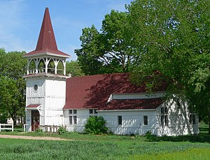 National Register of Historic Places listings in Knox County, Nebraska - Image: Most Merciful Savior, Santee, from SE 1