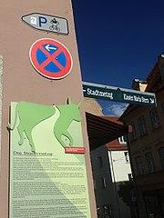 Motorradparkplatzbeschilderung Augsburg