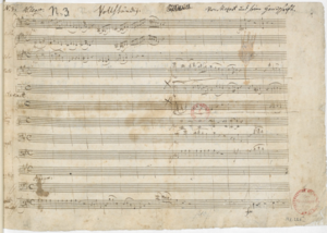 Piano Concerto No. 23 (Mozart) - The opening page of the autograph manuscript