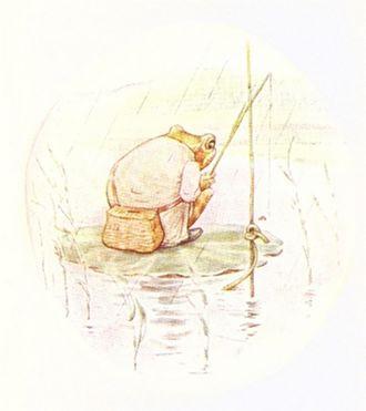 The Tale of Mr. Jeremy Fisher - Mr. Jeremy Fisher fishing.